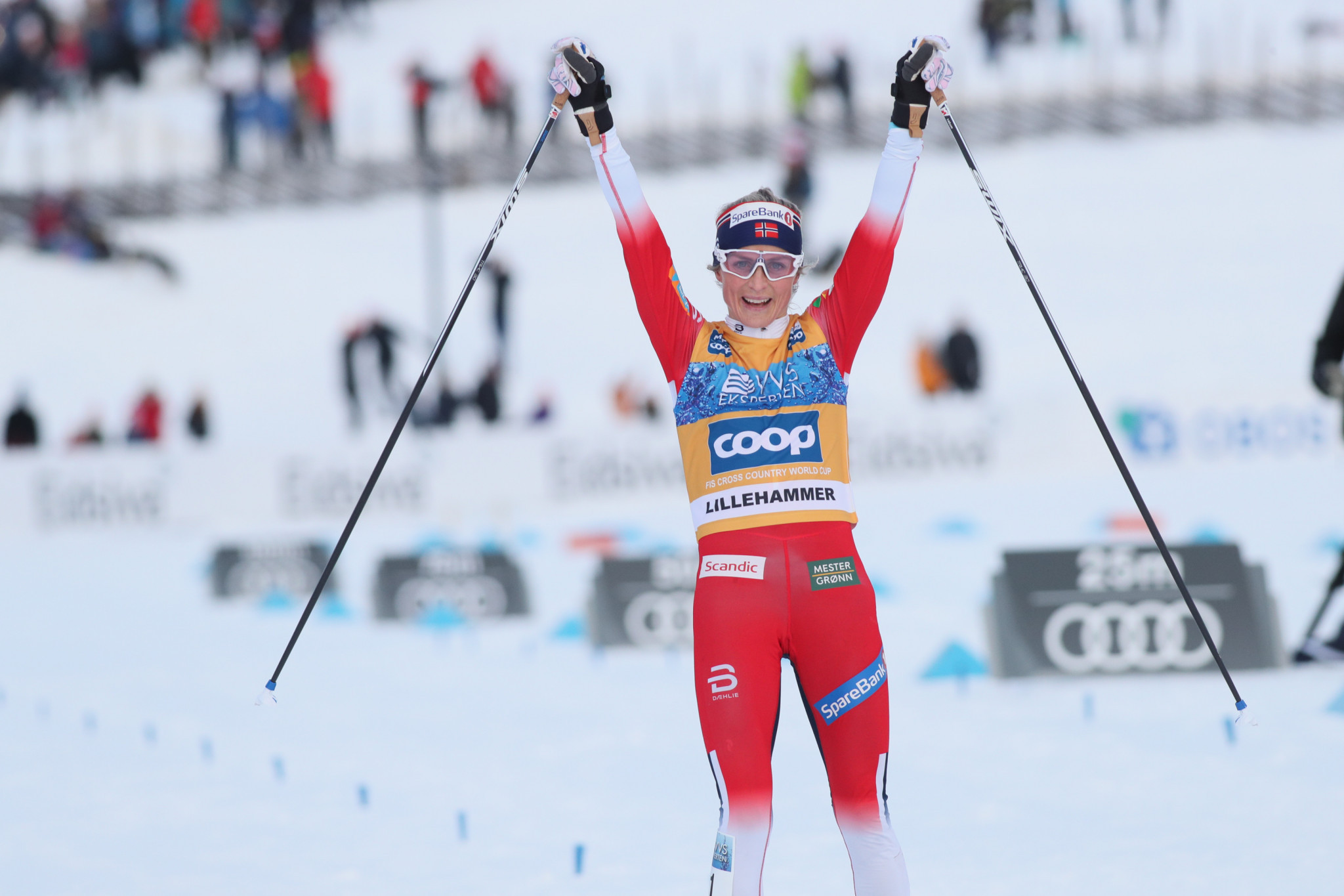 Johaug continues strong form with victory in opening Tour de Ski event