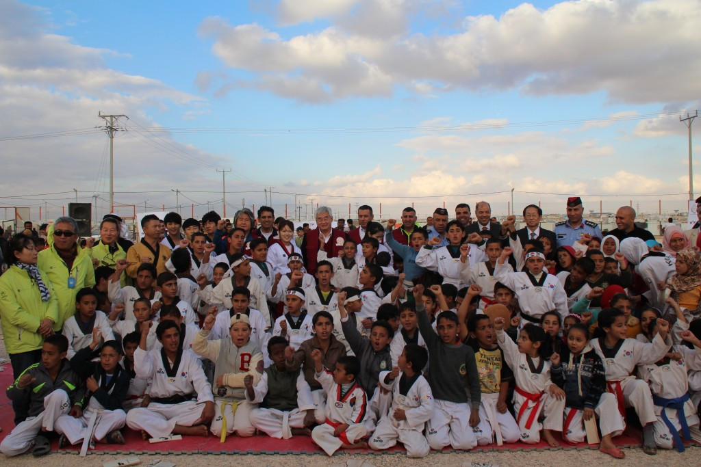 World Taekwondo Federation open academy at refugee camp in Jordan