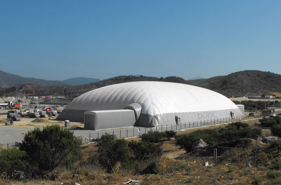 The domes manufactured by Slovenian company Duol will be used in four locations in Algeria ©Duol