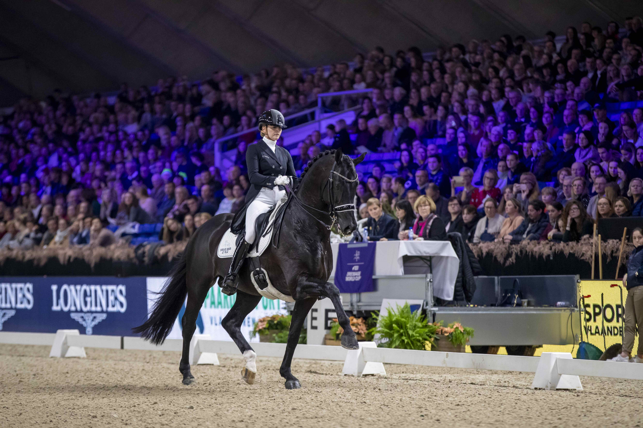 Emmelie Scholtens won the FEI Dressage World Cup at Mechelen ©FEI