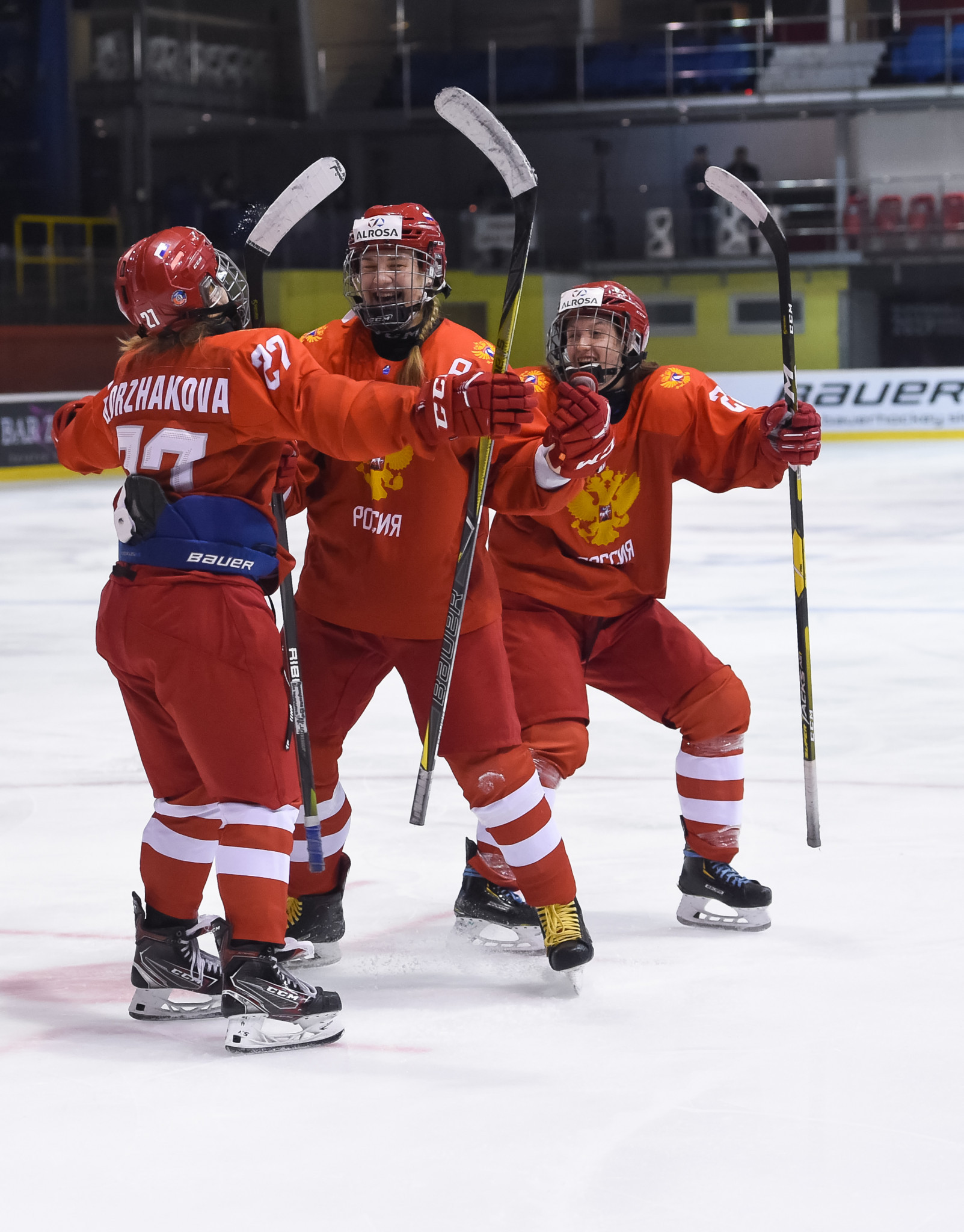 Russia reached the semi-finals of the IIHF Under-18 Women's World Championship ©IIHF