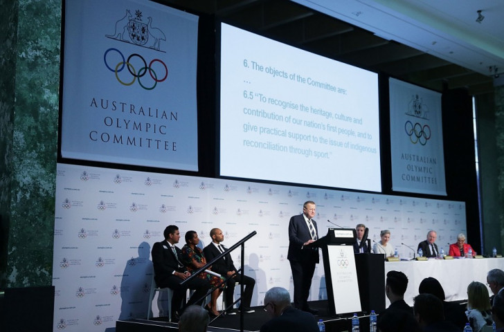 Australian Olympic Committee officially change Constitution to recognise indigenous population