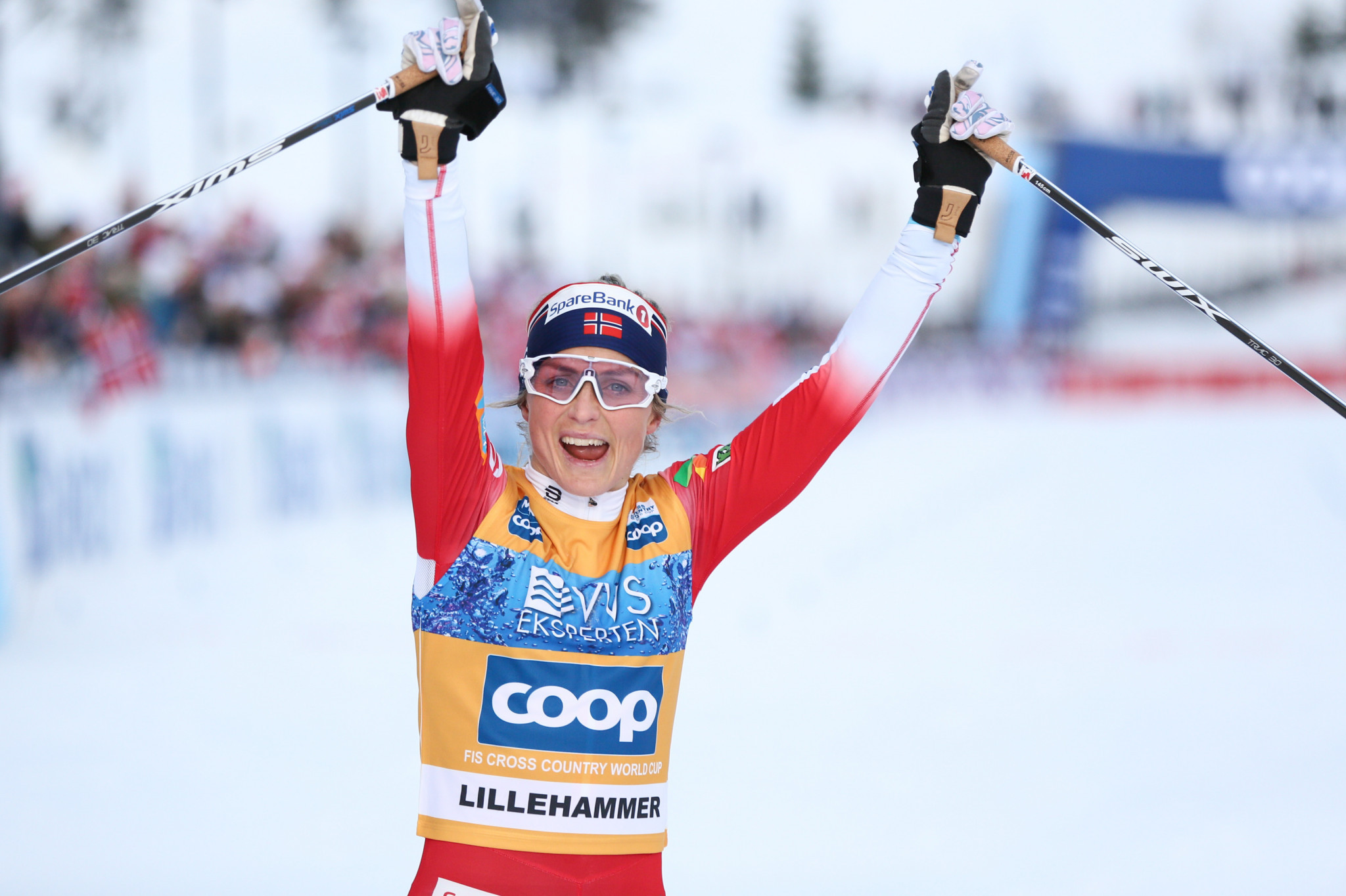 Therese Johaug of Norway won the third stage of the Tour de Ski ©Getty Images