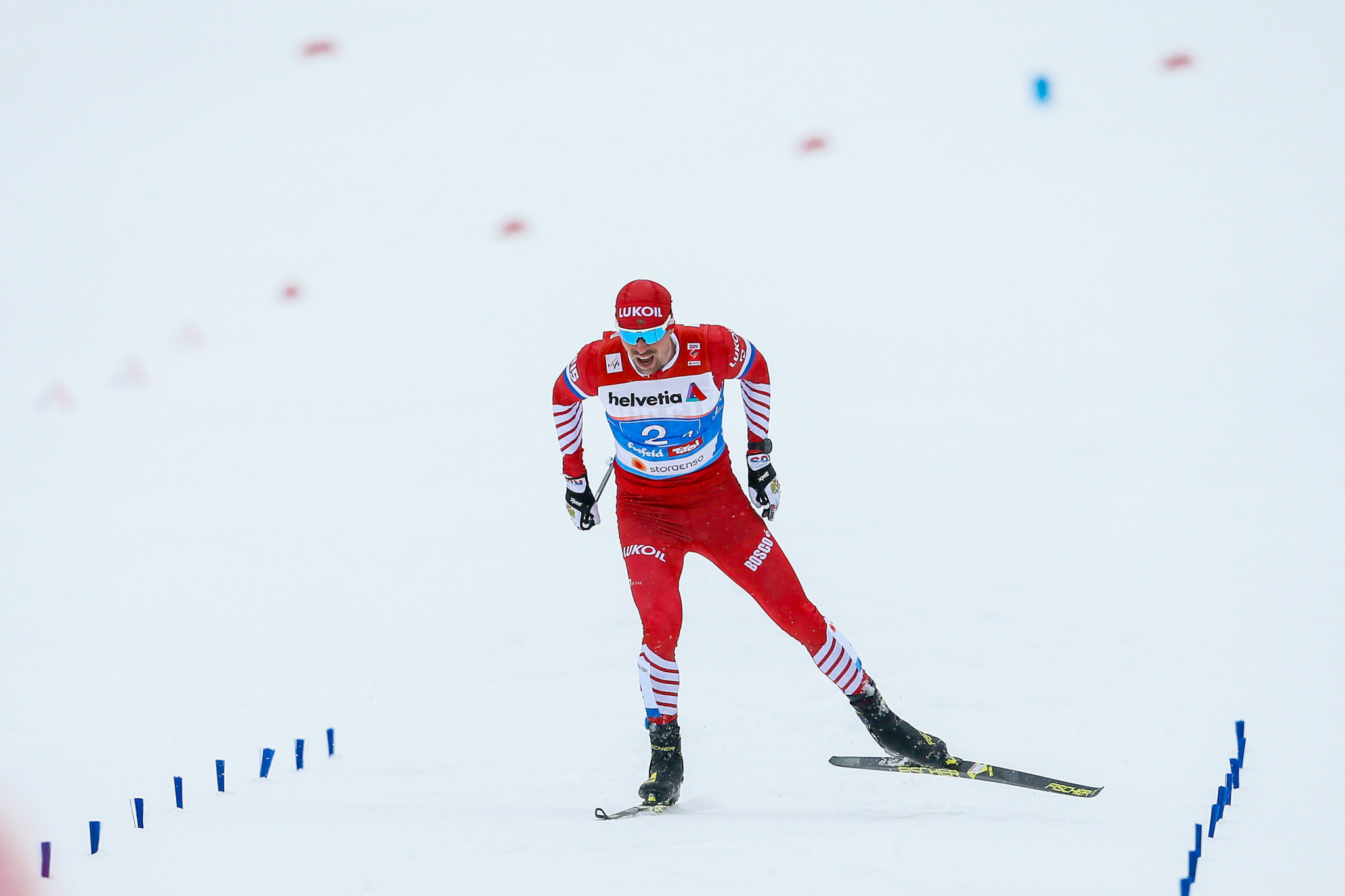 Sergey Ustiugov of Russia earned gold in the men's 15km interval start at the Tour de Ski ©Getty Images