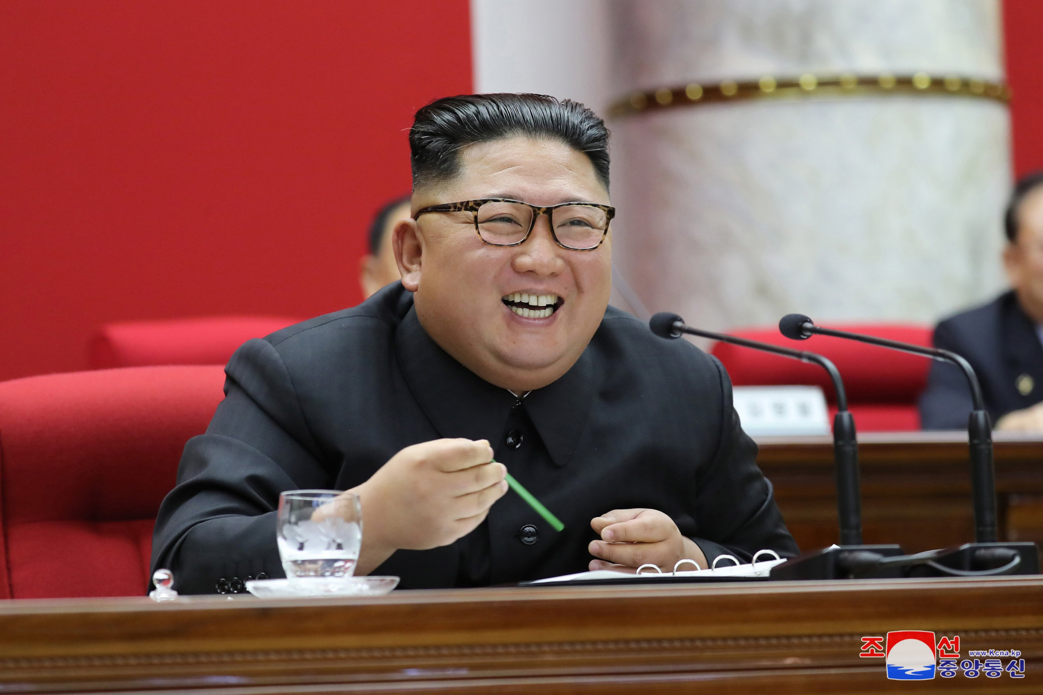 "North Korea's chairman Kim Jong-un used his New Year's Day message to announce he planned to resume his country's nuclear programme and the launch of a ""new strategic weapon"" ©KCNA"