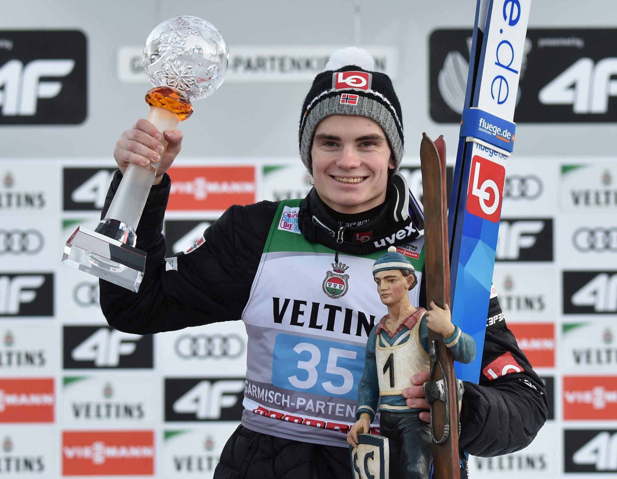 Lindvik ends  Kobayashi Four Hills Tournament victory streak in Garmisch-Partenkirchen