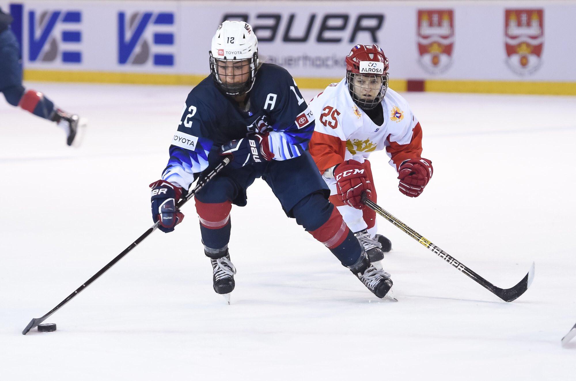 The United States overcame Russia to reach the IIHF World Women's Under-18 Women's Championship final ©IIHF