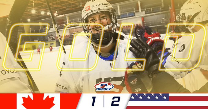 United States beat Canada in overtime to win IIHF World Women's Under-18 Championship