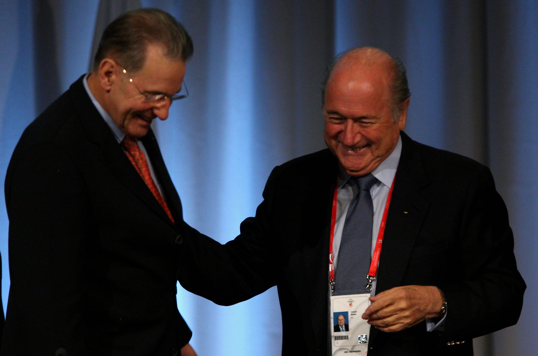 Former FIFA President Sepp Blatter, right, was an IOC member for 16 years ©Getty Images