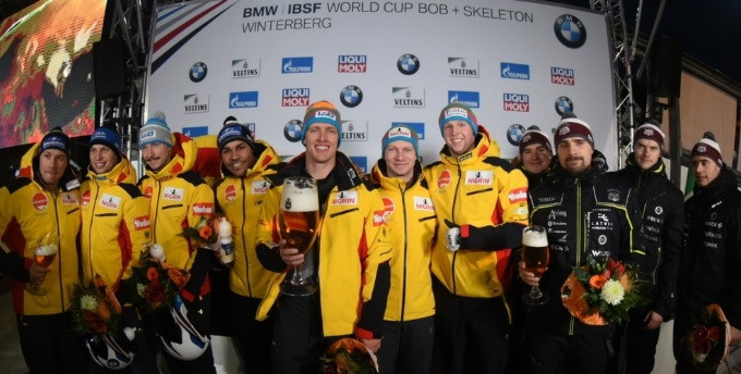Friedrich secures first four-man victory of the season at IBSF World Cup