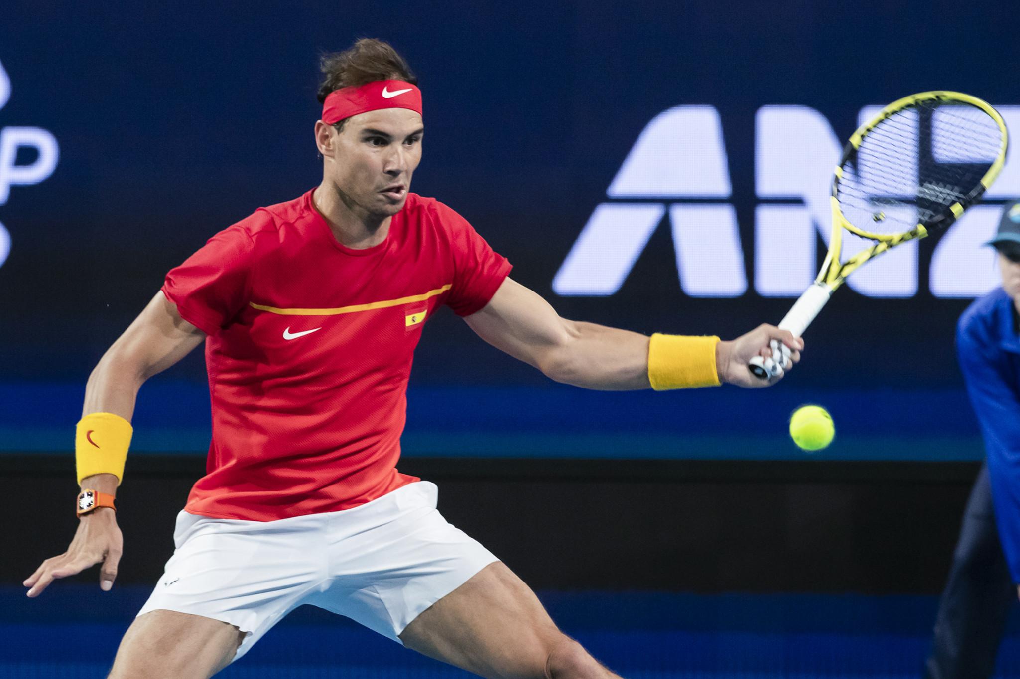 Rafael Nadal beat Nikoloz Basilashvili to seal Spain's victory over Georgia ©Getty Images