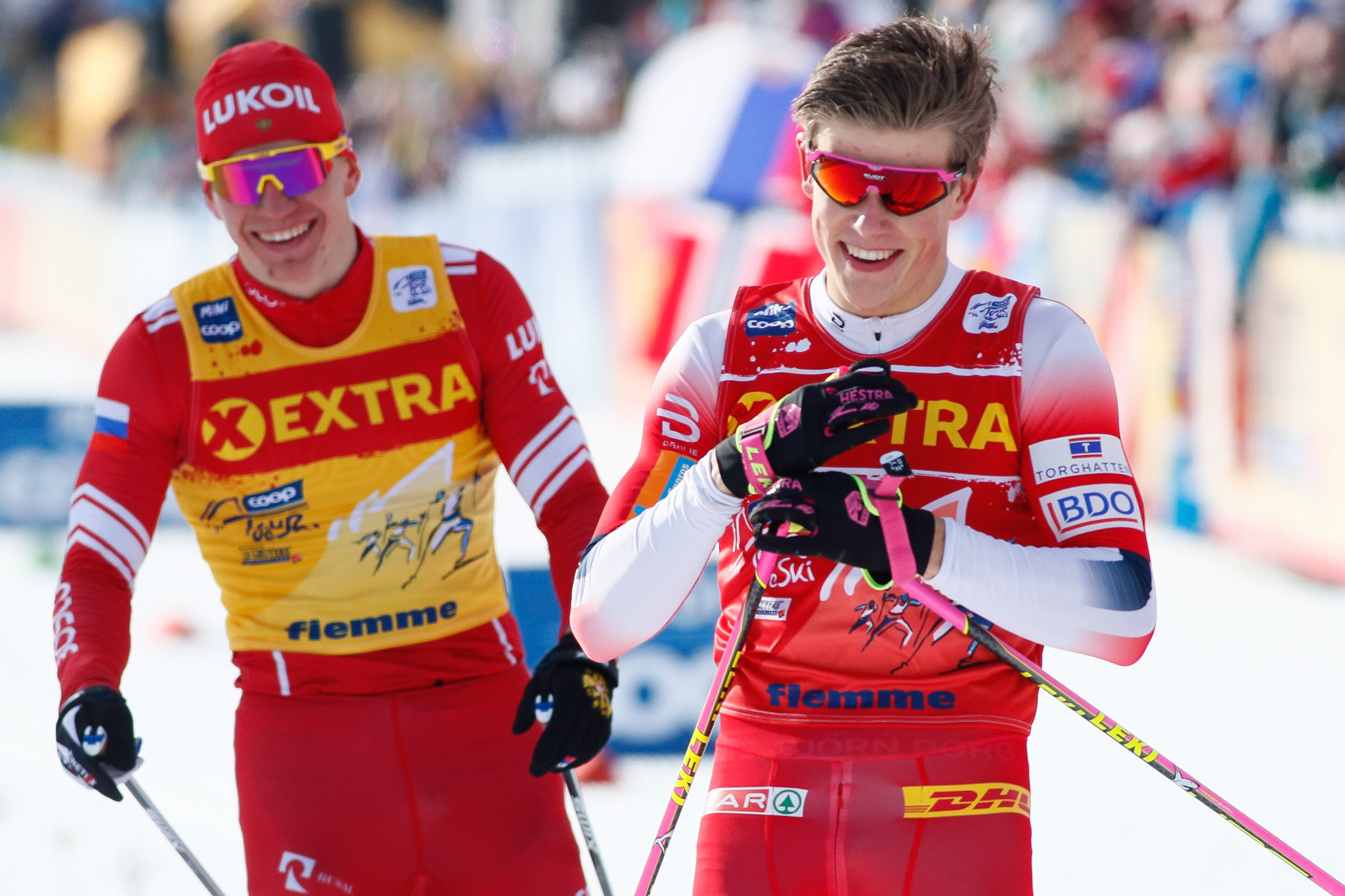 Klæbo edges into overall Tour de Ski lead with second grand final win in Val di Fiemme
