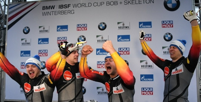 Lochner edges out Friedrich to retain European four-man title at IBSF World Cup