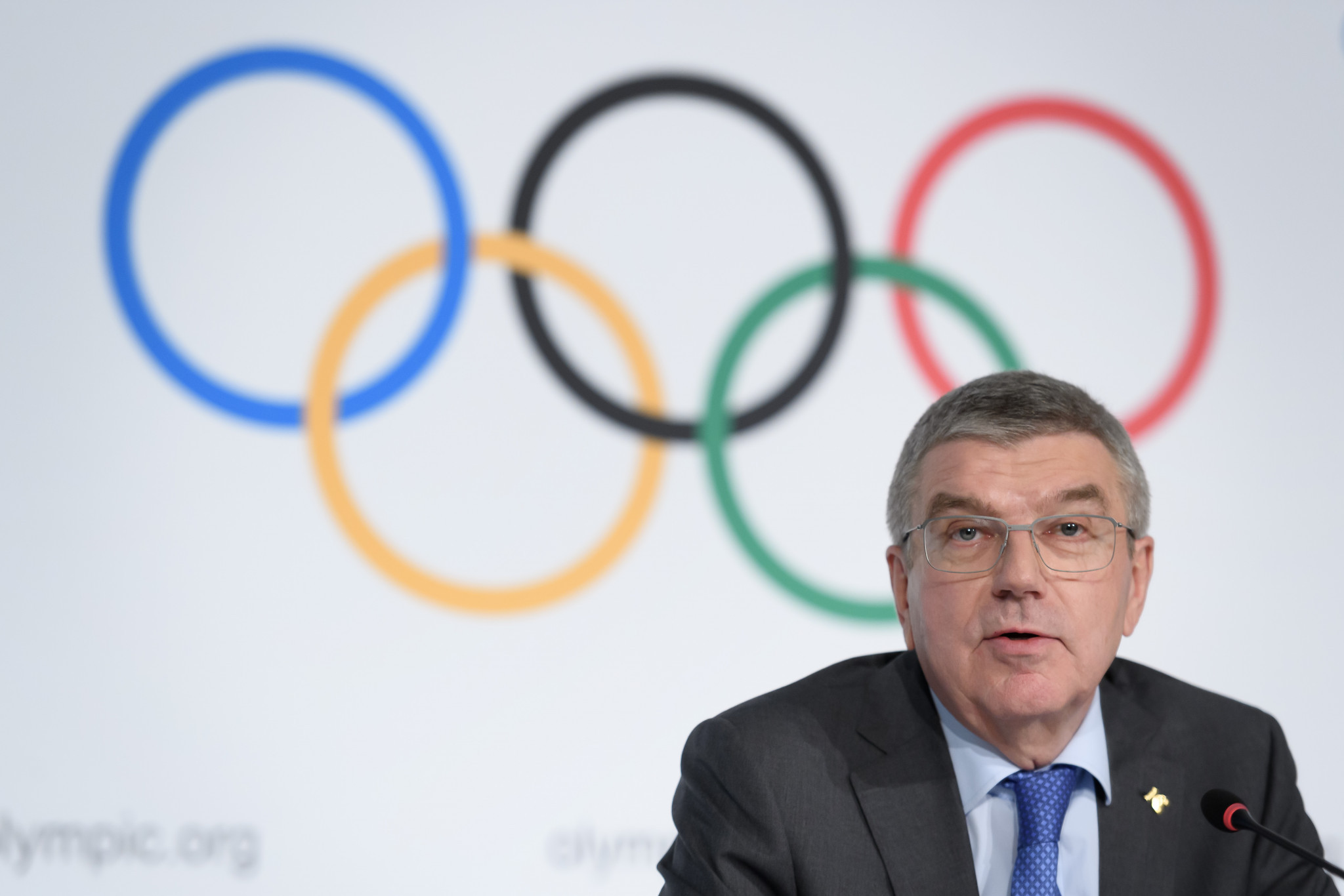 IOC President Thomas Bach warned against podium protests at Tokyo 2020 in his New Year message ©Getty Images