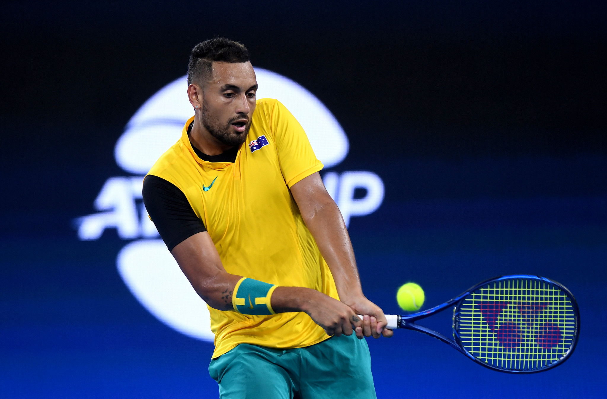 Australian tennis player Nick Kyrgios used his platform at the ATP Cup to raise awareness about the bush fires in his country ©Getty Images