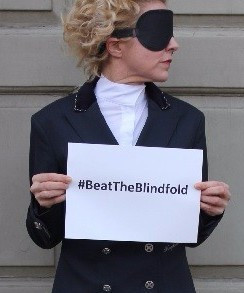 British Para-dressage rider launches campaign against blindfold rule ahead of Rio 2016