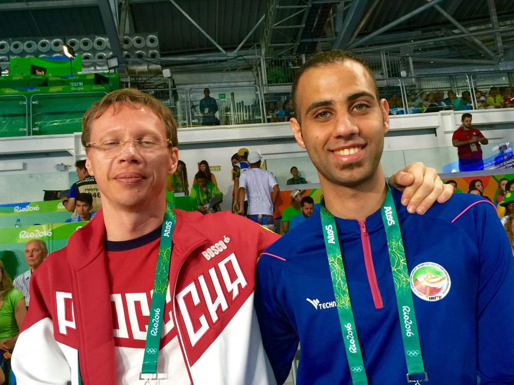 Mahdi Pourrahnama, right, will be a big favourite for Paralympic gold at Tokyo 2020 ©IPC