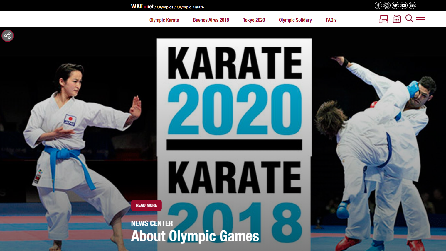 World Karate Federation launch new official website