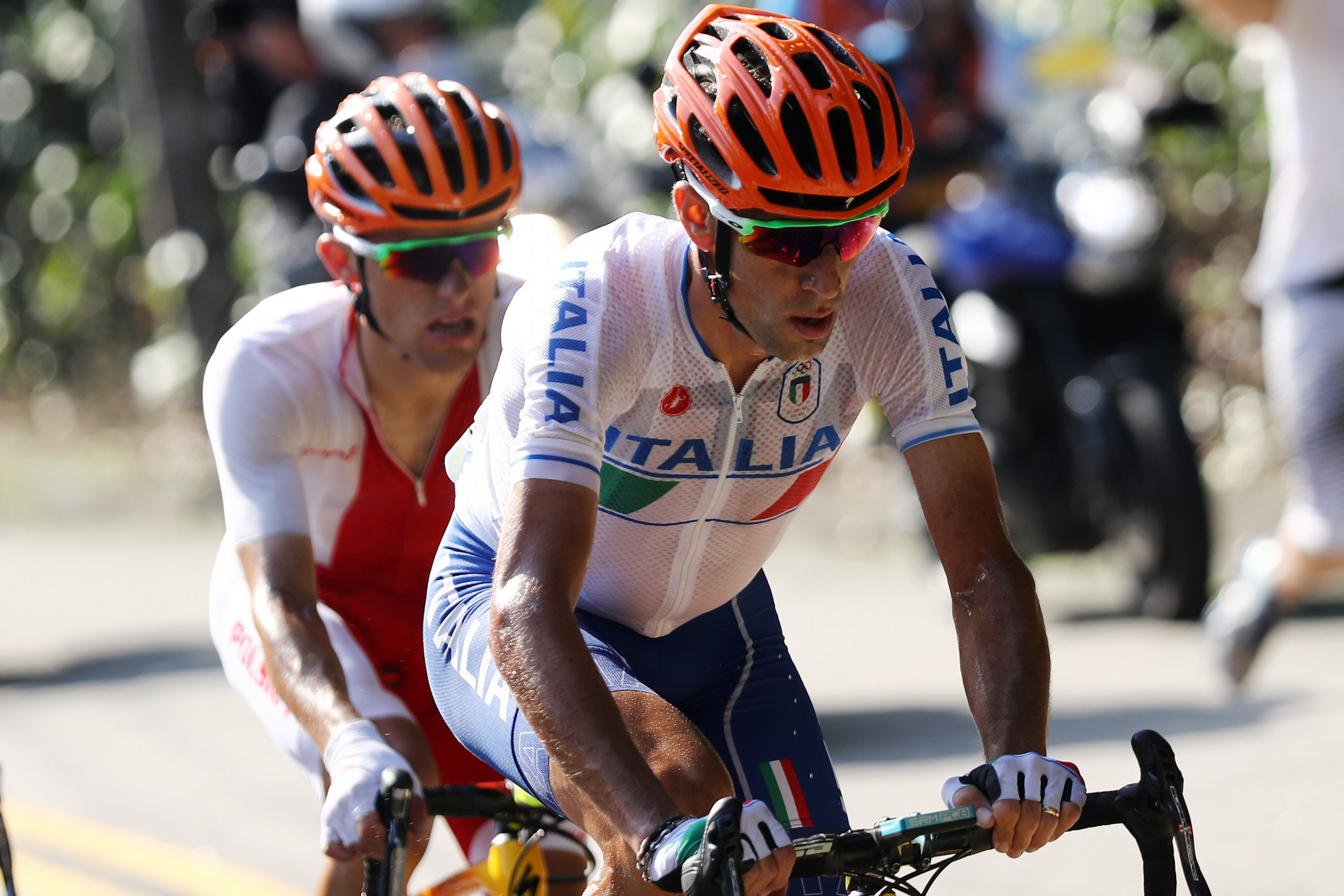 Vincenzo Nibali crashed out of the Rio 2016 road race and broke his collarbone ©Getty Images