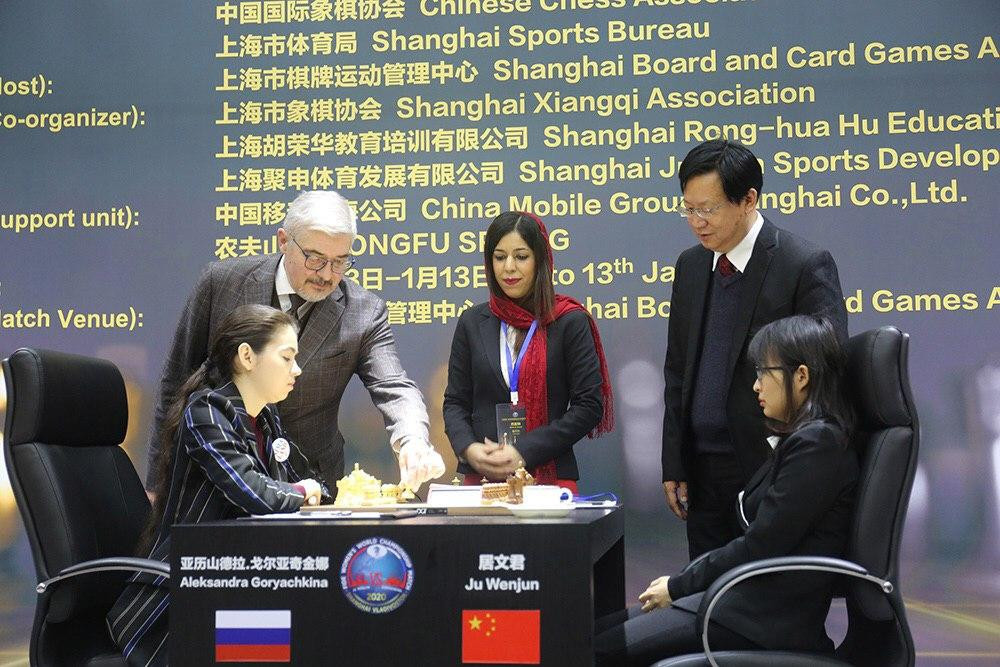 Opening game in Women's World Chess Championship Match ends in a draw