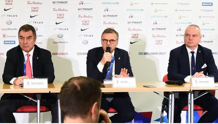IIHF President René Fasel praised organisers of the 2020 World Junior Championship in the Czech Republic, adding that the competition was being broadcast in a record number of 12 countries ©IIHF