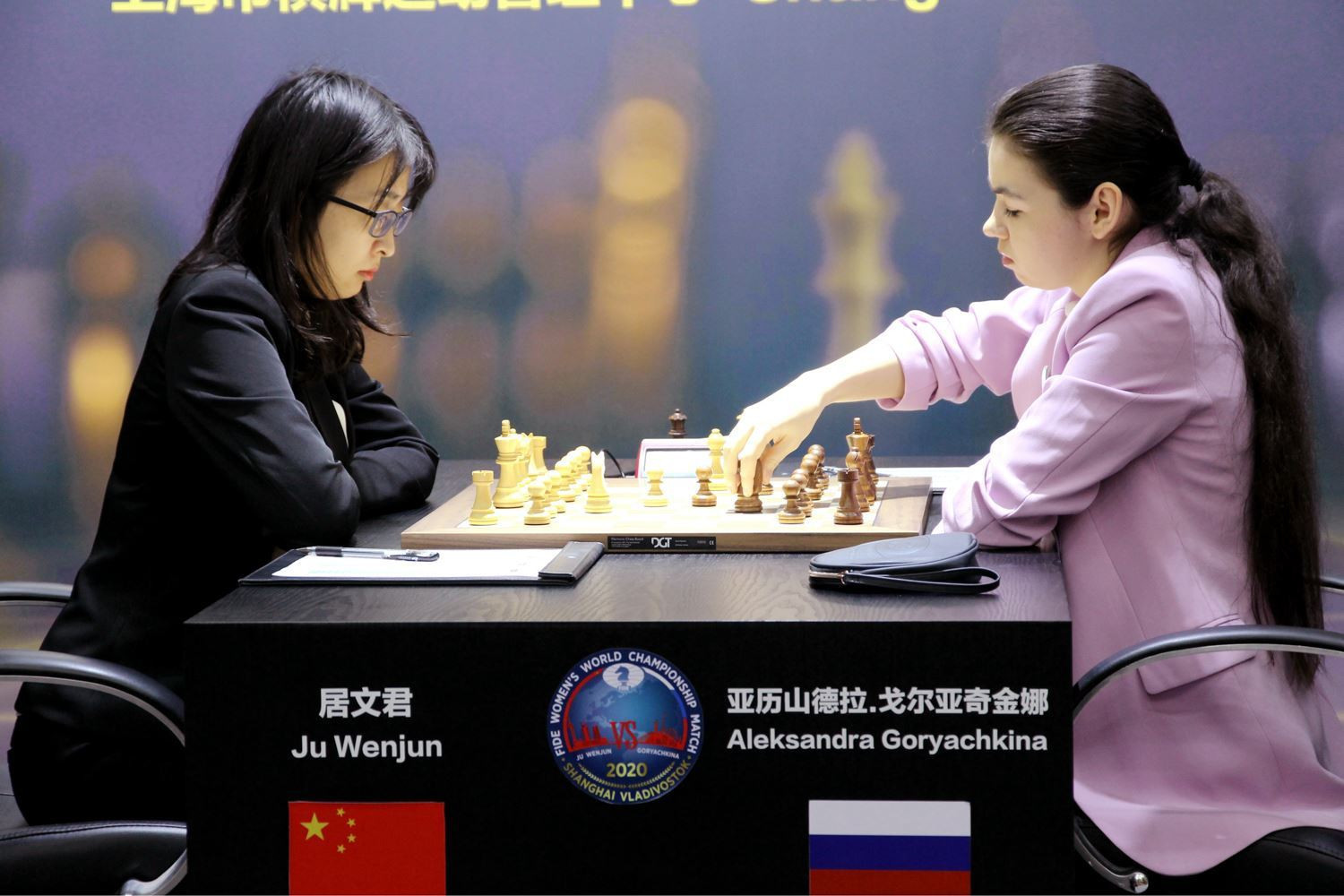 The second game in the Women's World Chess Championship ended in a second draw ©FIDE