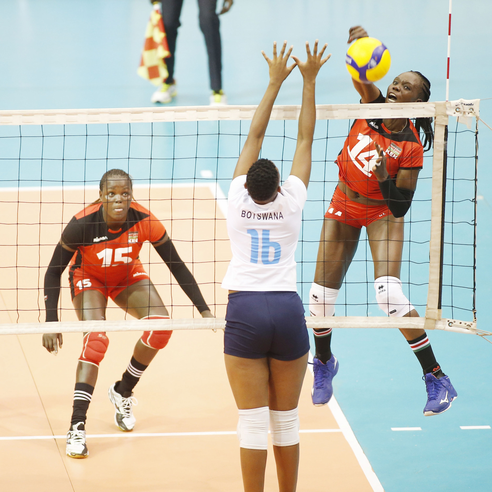 Kenya continued their perfect start to the  Women's African Olympic Qualification Tournament in Yaoundé ©FIVB