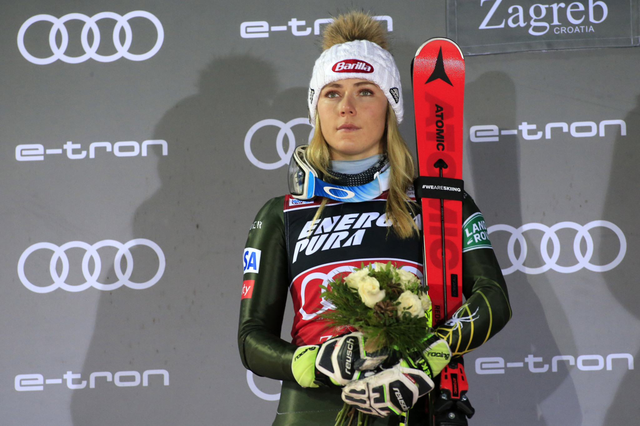 Mikaela Shiffrin is in the running for female athlete of December in the Team USA Awards ©Getty Images
