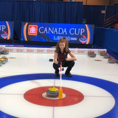 Curler Lauren Rajala will be the Canadian flagbearer at the Lausanne 2020 Opening Ceremony ©Twitter