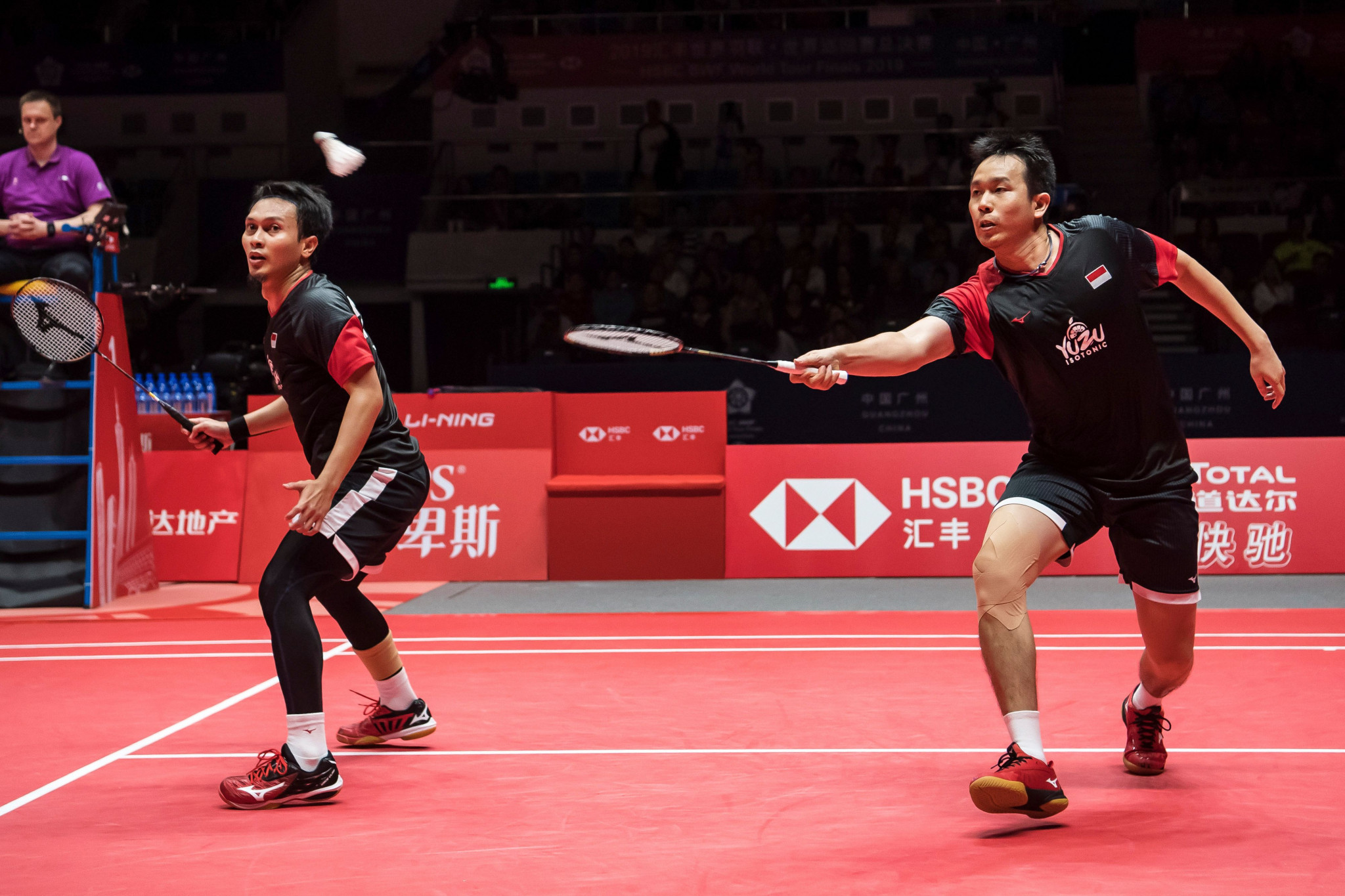 Indonesia's world champions Mohammad Ahsan and Hendra Setiawan went through in the men's doubles ©Getty Images
