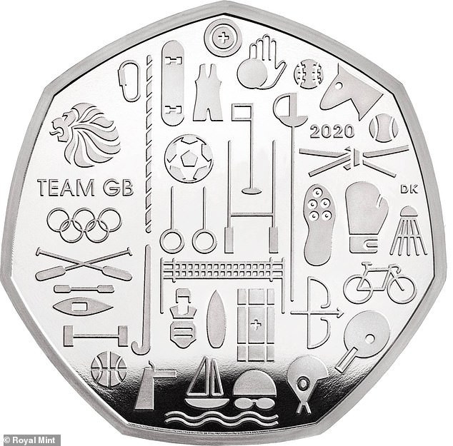 The Royal Mint is launching a new coin to commemorate Team GB's participation at Tokyo 2020 ©Royal Mint