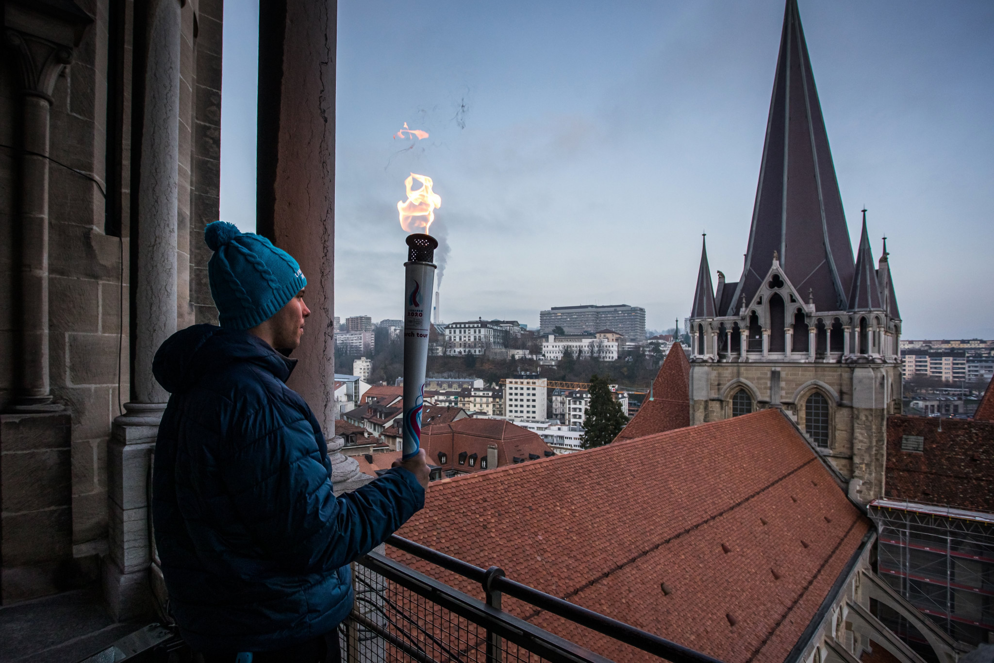 Winter Youth Olympic Games flame lights up Lausanne