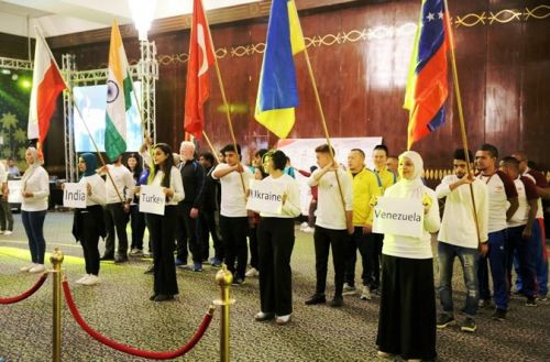 Countries line-up at the World Championships Opening Ceremony ©IBSA