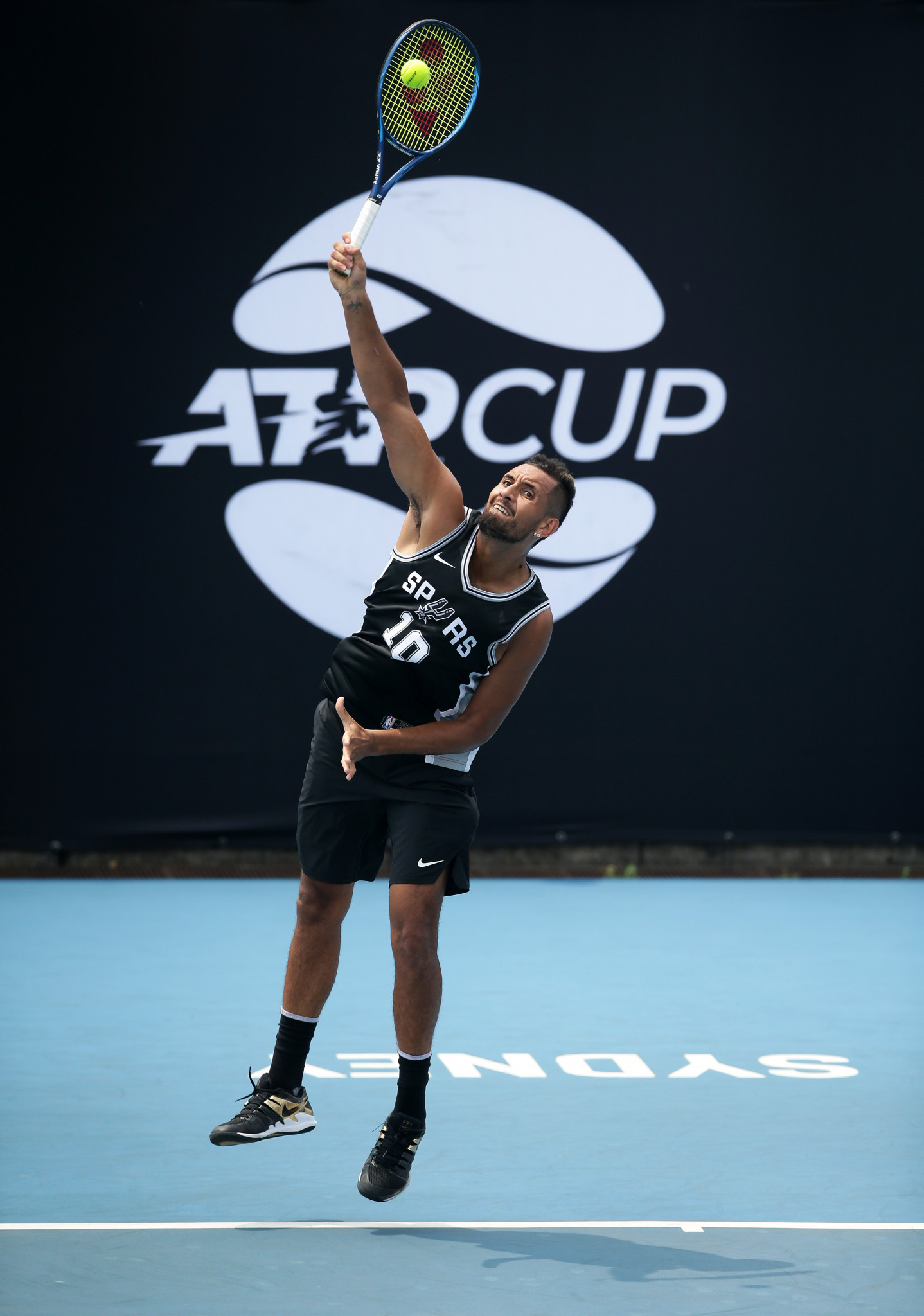 Nick Kyrgios has pledged cash for every ace he hits at the ATP Cup ©Getty Images