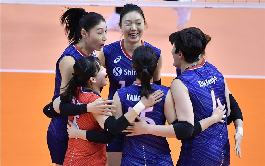 South Korea reached the women's semi-finals with Kazakhstan ©FIVB
