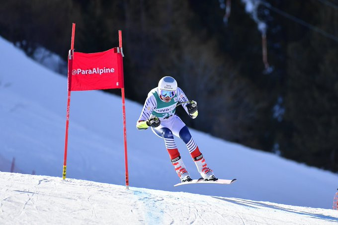 Bauchet makes perfect start to World Para Alpine Skiing World Cup campaign