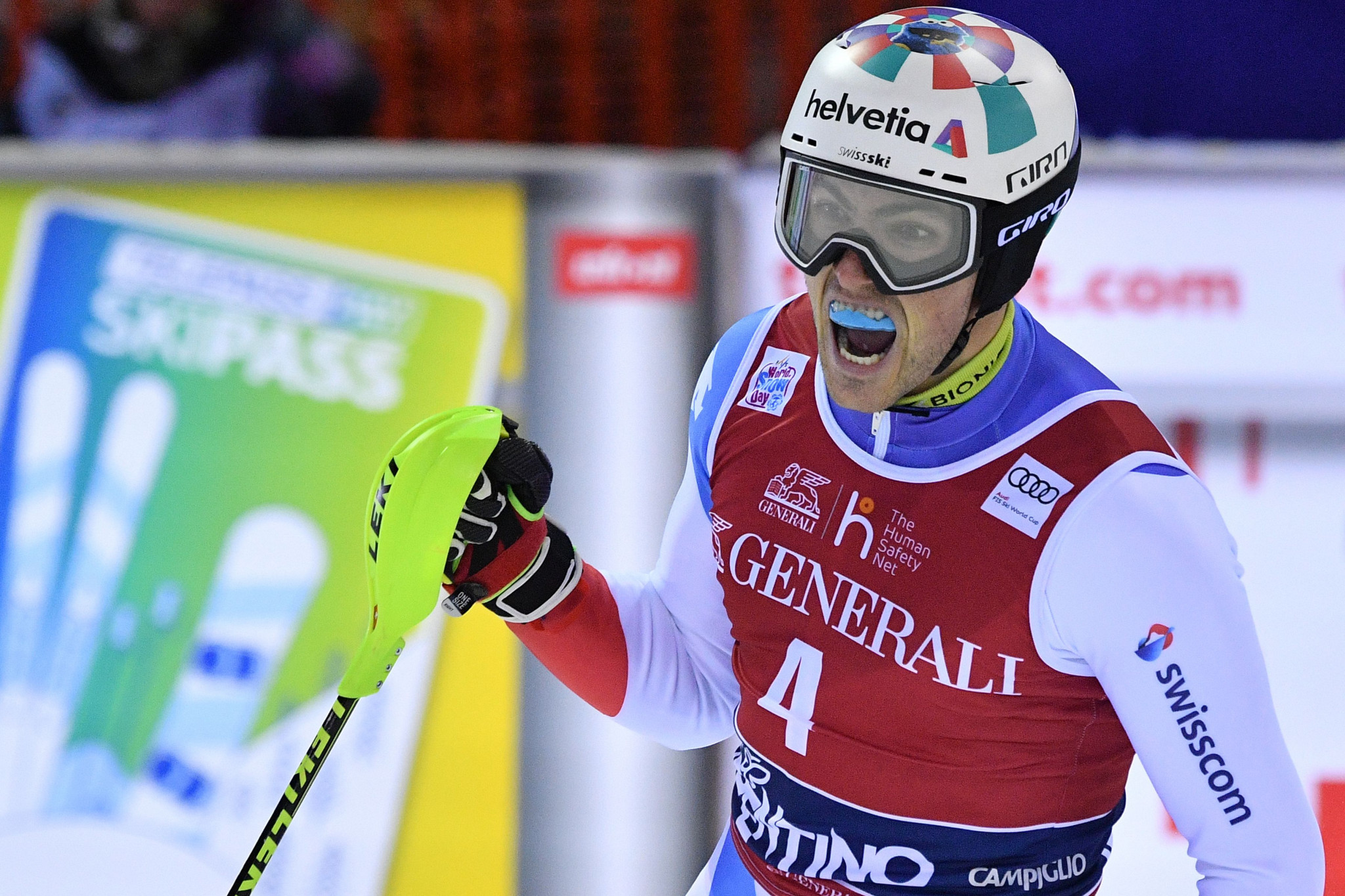 Yule wins men's slalom for second year in row at FIS Alpine Skiing World Cup in Madonna di Campiglio