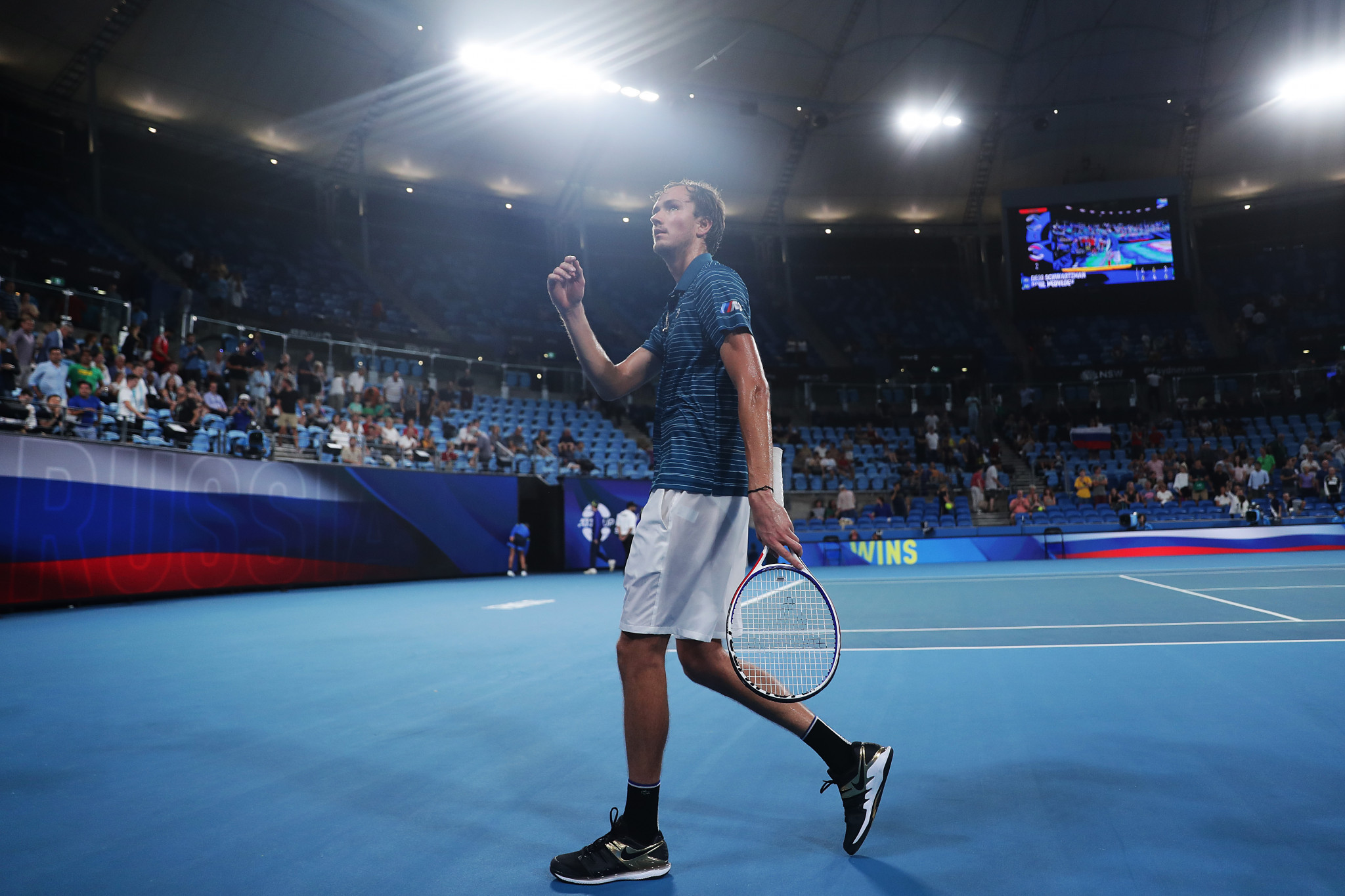 Daniil Medvedev was victorious as Russia knocked out Argentina ©Getty Images