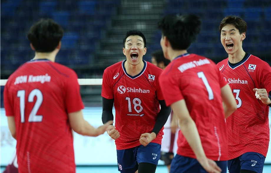 South Korea squeeze into semi-finals at Men's Volleyball Asian Olympic Qualification Tournament