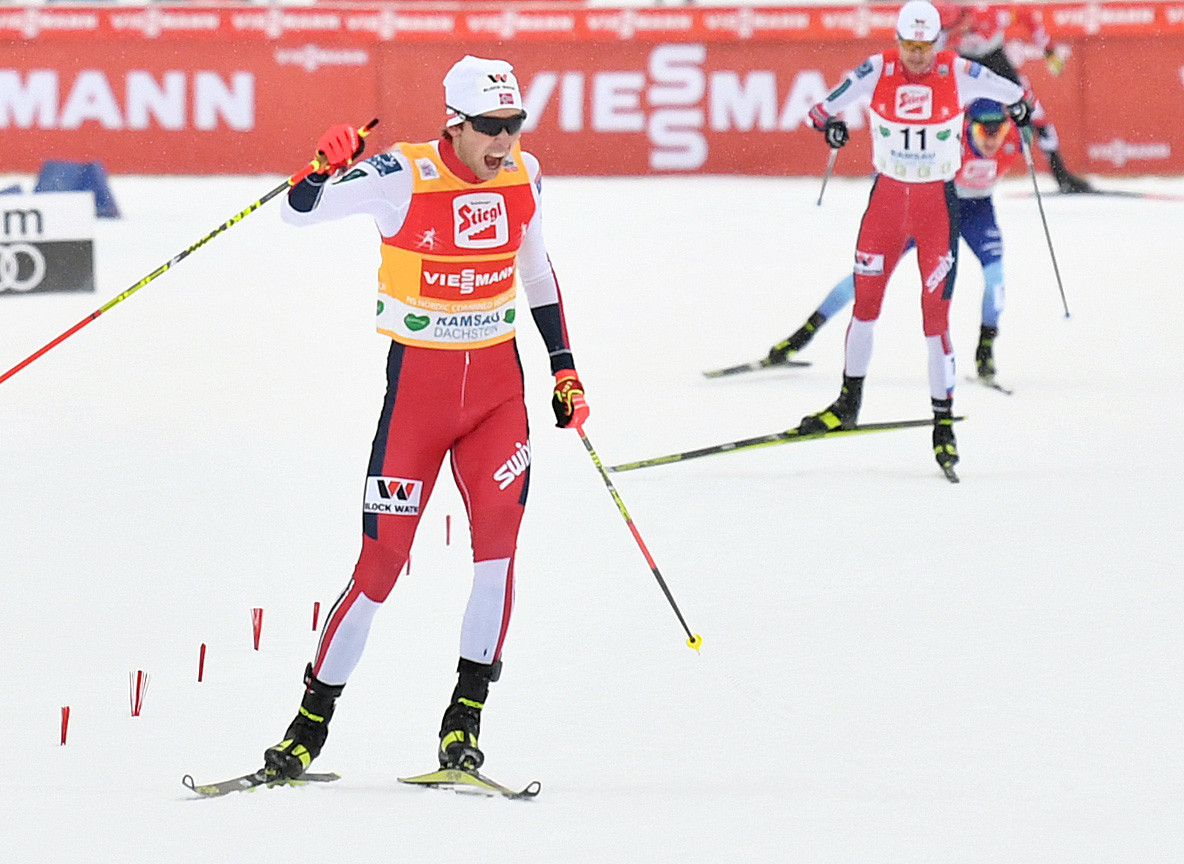 Riiber and Rehrl share top spot in provisional competition round at FIS Nordic Combined World Cup