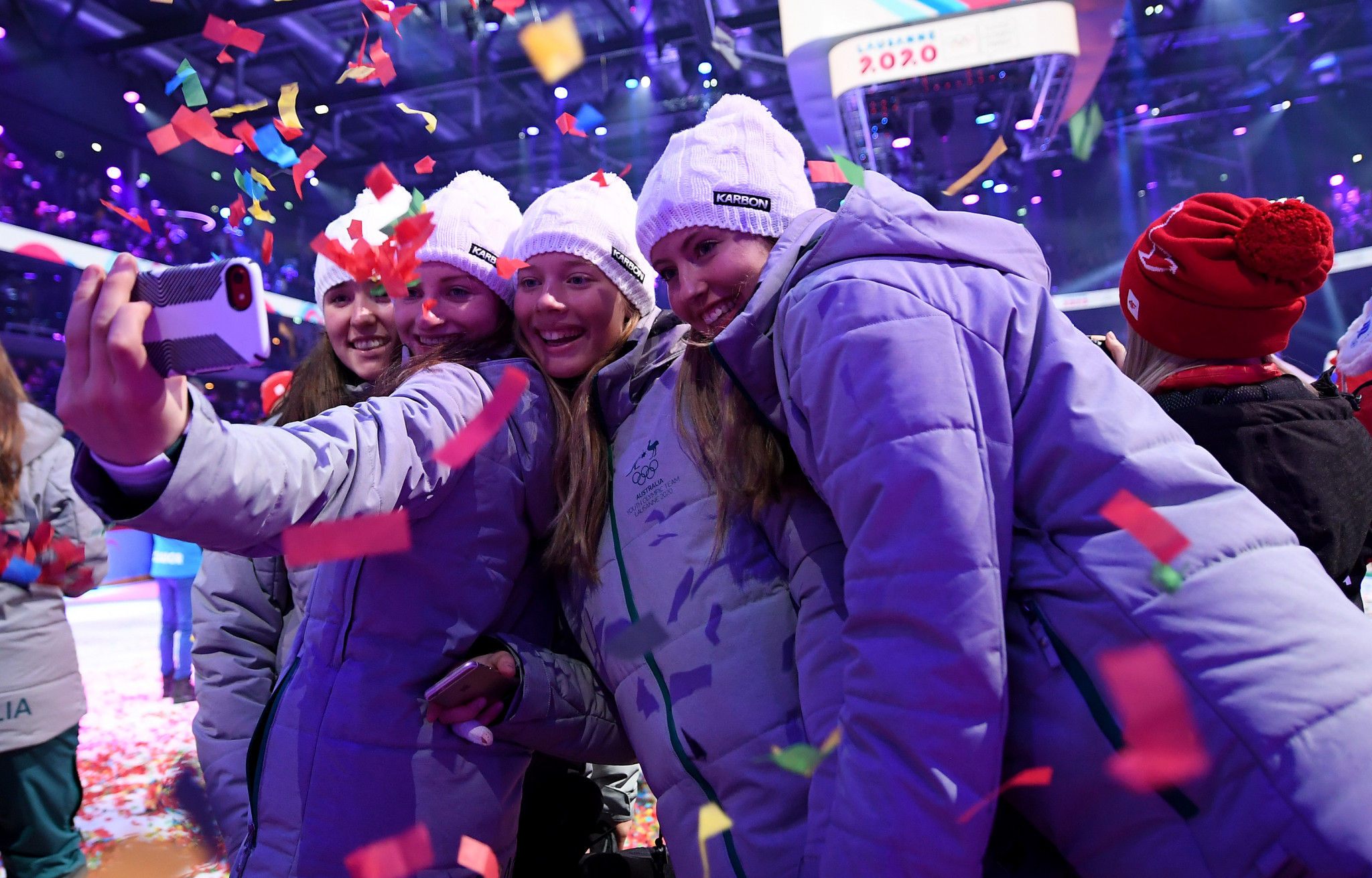 Athletes celebrate start of Winter Youth Olympic Games at Lausanne 2020 Opening Ceremony