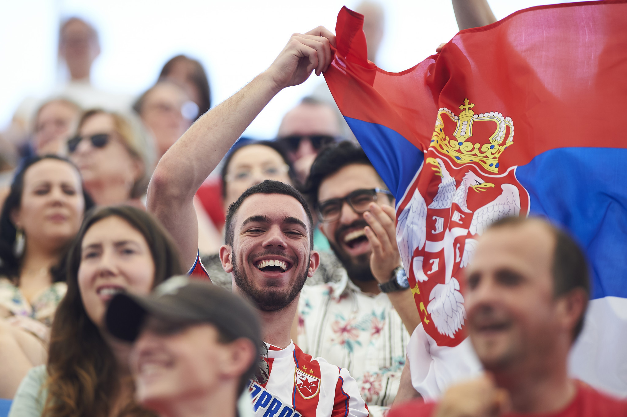 A decisive win by world number two Novak Djokovic brought joy to Serbian fans ©Getty Images