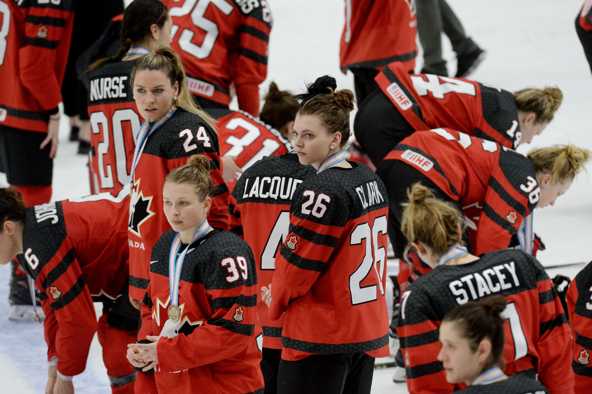 The Canadian women are modern-day powerhouses in ice hockey ©Getty Images