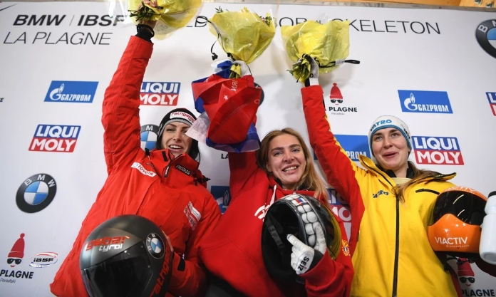 Russia's Nikitina breaks 20-year-old track record to win women's skeleton at IBSF World Cup in La Plagne