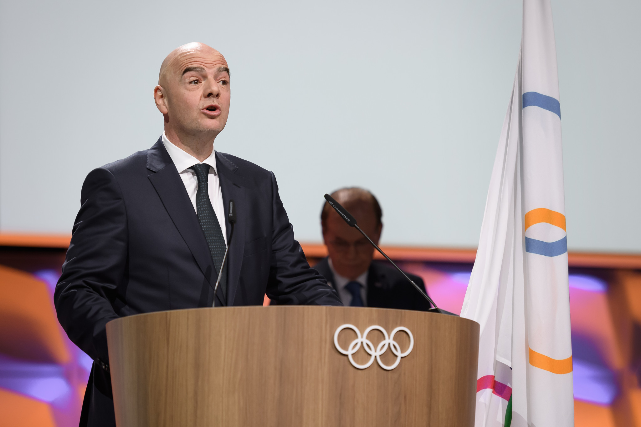 Gianni Infantino was among the three members elected at the IOC Session ©Getty Images