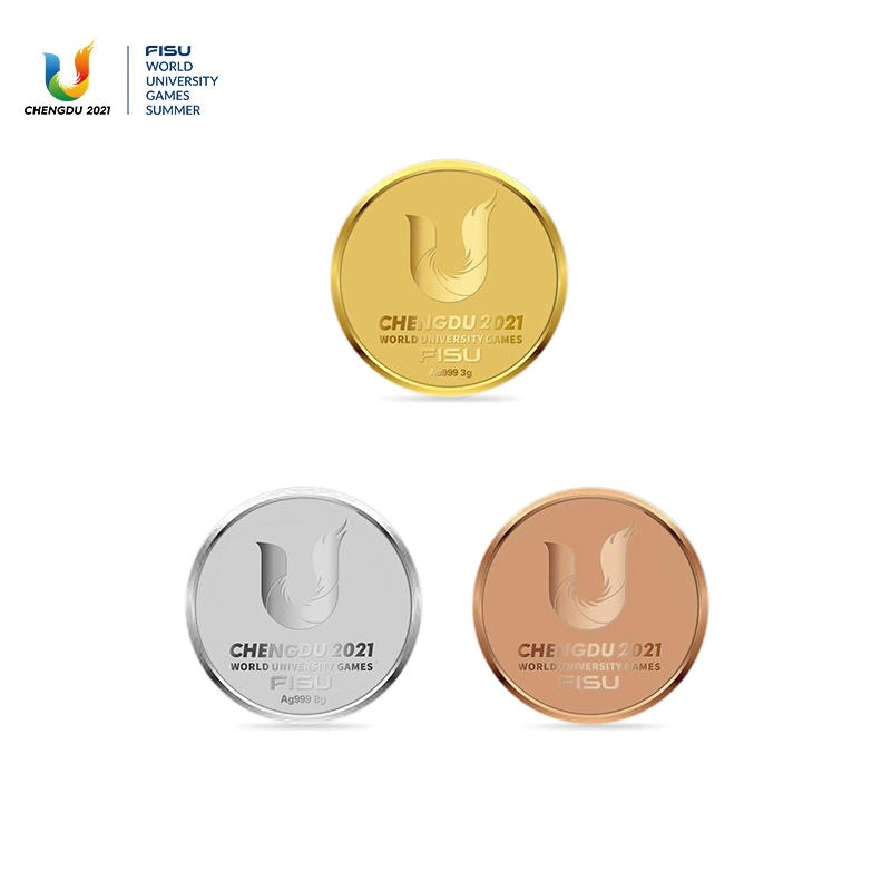 Chengdu 2021 have produced 2,021 badges and selling them at random for CNY100 - with the potential to own a gold one worth CNY1,699 ©Chengdu 2021