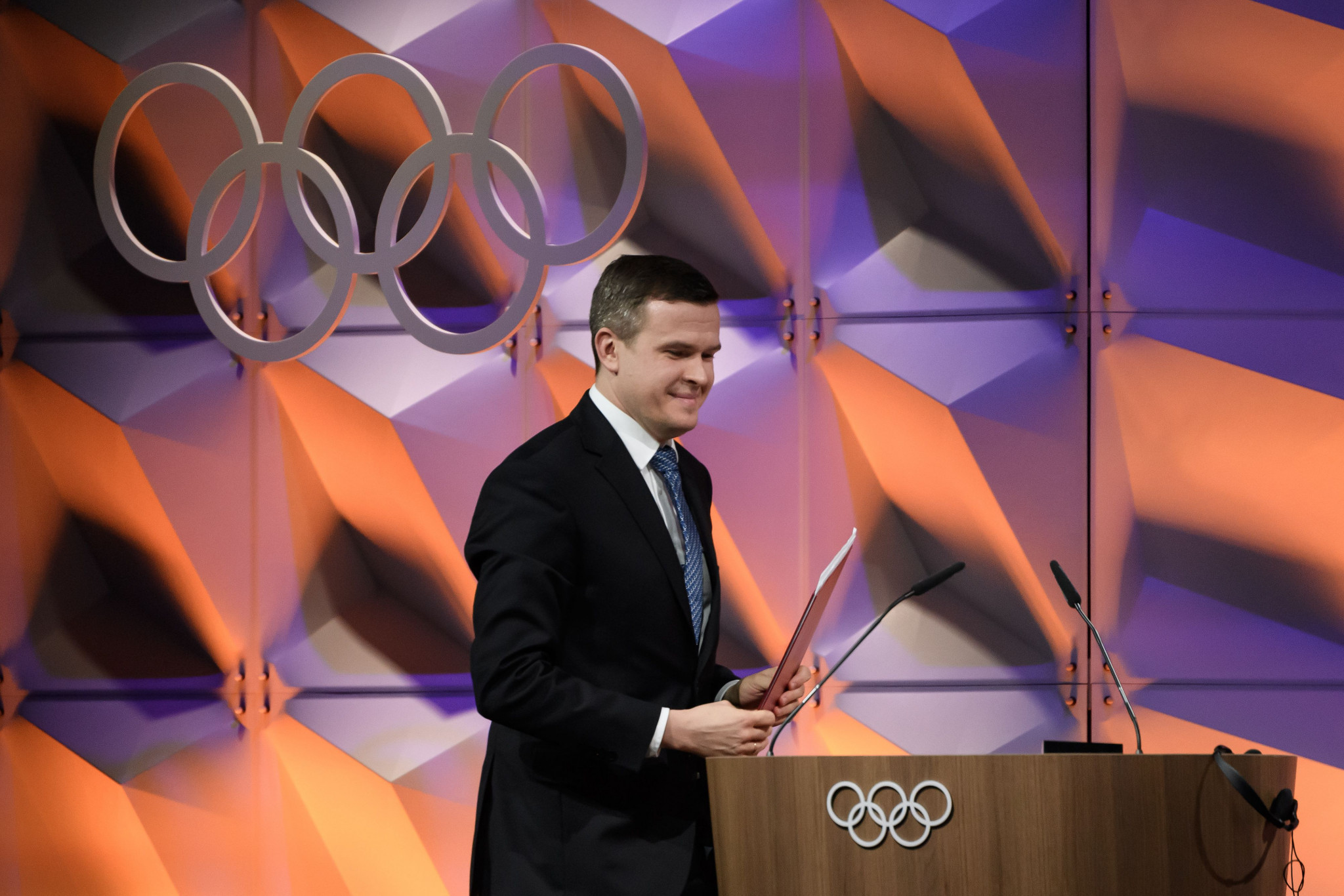 Witold Banka gave his first presentation to the IOC as WADA President ©IOC