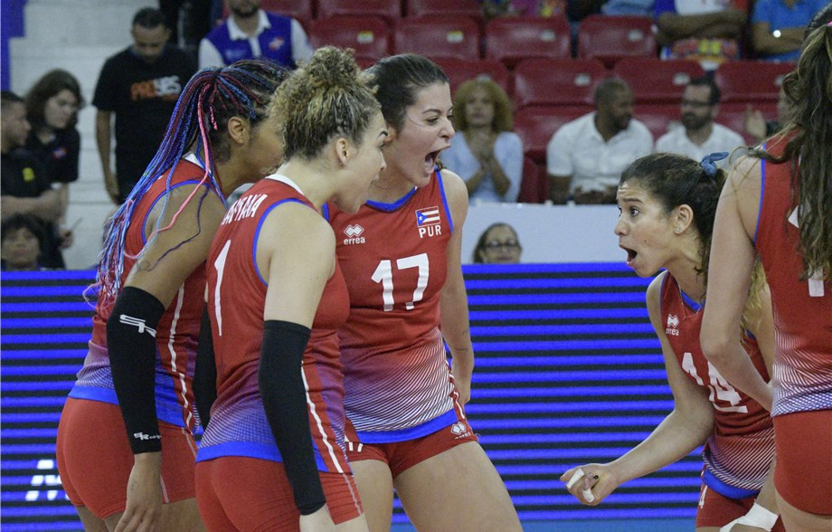 Puerto Rico's women earned a dramatic win over Canada in the opening round of South American Tokyo 2020 volleyball qualifying matches in the Dominican Republic ©FIVB