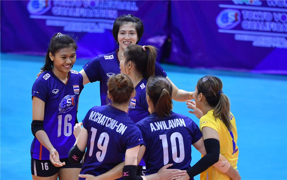 Hosts Thailand will contest the Asian qualifying place for the Tokyo 2020 women's volleyball competition with South Korea tomorrow ©FIVB