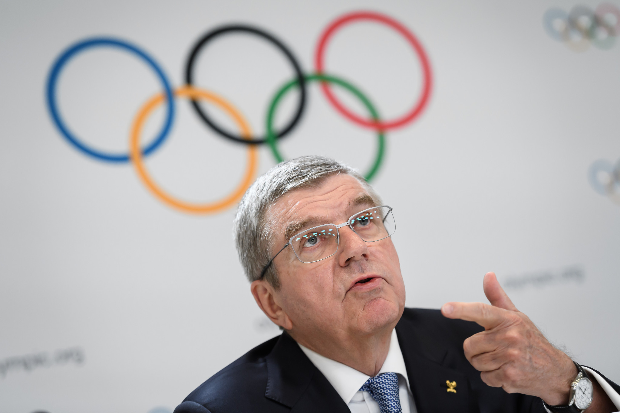 IOC President Thomas Bach praised Sapporo's bid following the meeting today ©Getty Images